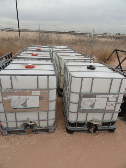 (8) 300 GALLON CHEMICAL TOTES
