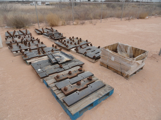 LARGE LOT OF TRENCHER BIT PLATES