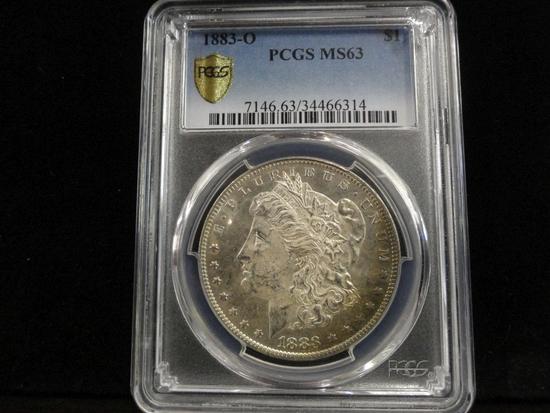 PCGS GRADED MS63 1883-O MORGAN SILVER DOLLAR