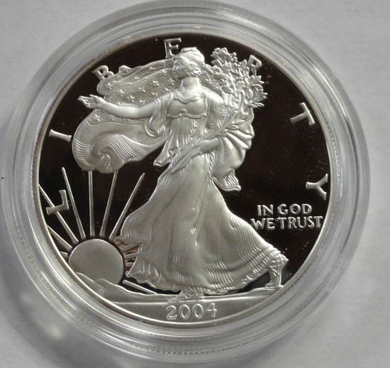 2004 AMERICAN EAGLE ONE OUNCE SILVER PROOF COIN