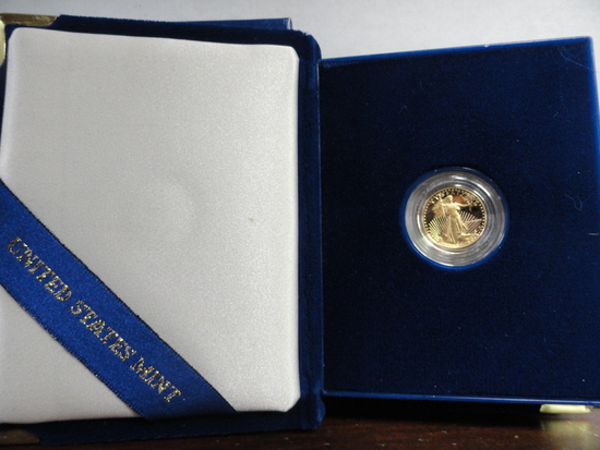 1988 ONE-TENTH OUNCE FIVE DOLLAR GOLD PROOF COIN