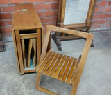 DROP LEAF TABLE WITH 4 CHAIRS INSIDE