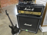 MARSHALL JVM AMP, MARSHALL 1960 SPEAKER AND IBANEZ JS SERIES ELECTRIC GUITAR #