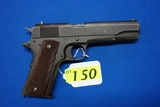 REMINGTON RAND 1911 A1 UNITED STATES PROPERTY MARKED SEMI-AUTOMATIC PISTOL, SR # 578148,