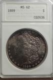 ANA GRADED MS62 1889 MORGAN SILVER DOLLAR