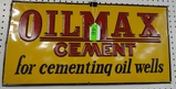 OIL MAX ENAMEL SIGN
