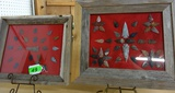 (2) FRAMES OF ARROWHEADS (NOT OLD)