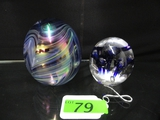 (2) LARGE PAPERWEIGHTS: