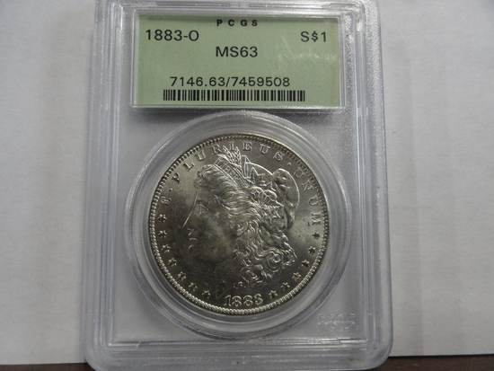 PCGS GRADED MS63 1883-O MORGAN SILVER DOLLAR