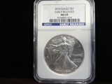 NGC GRADED MS69 2010 SILVER EAGLE EARLY RELEASES COIN