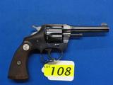 COLT POLICE POSITIVE SIX SHOT REVOLVER, SR # 340748