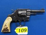 COLT OFFICIAL POLICE SIX SHOT REVOLVER, SR # 879666