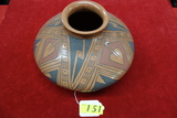 LARGE POLYCHROME NATIVE AMERICAN OLLA