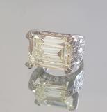 11.07 CT EMERALD CUT DIAMOND RING: