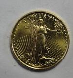 1999 5 DOLLAR GOLD EAGLE COIN 1/10 OZ, 999 FINE GOLD
