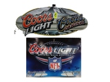 (2) COORS LIGHT/COORS METAL SIGNS