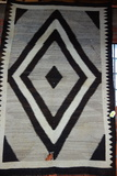 VINTAGE NAVAJO WEAVING- WITH RED, BROWN AND TAN
