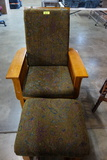 MARLES MISSION STYLE ROCKER AND OTTOMAN