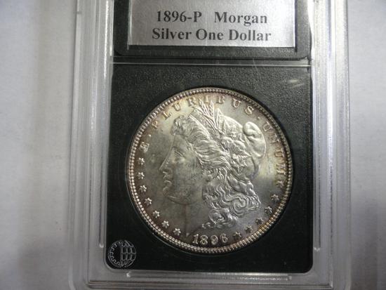 SLABBED 1896 MORGAN SILVER DOLLAR