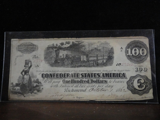 CONFEDERATE STATES OF AMERICA INTEREST BEARING BOND,