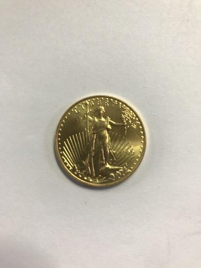 1999 25 DOLLAR, 1/2 OUNCE FINE GOLD COIN