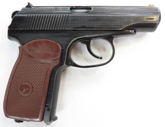A MAKAROV PROP PISTOL WITH HOLSTER