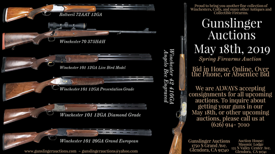 May 18th, Spring Firearms Auction
