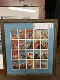 HAPPY TRAILS CHILDREN'S FOUNDATION- RARE FRAMED AND MATTED SHEET- DELUXE ROY ROGERS COLLECTOR CARDS
