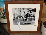 HAPPY TRAILS CHILDREN'S FOUNDATION- FRAMED AND MATTED PHOTO OF COWBOY ACTOR ROBERT HORTON