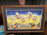 HAPPY TRAILS CHILDREN'S FOUNDATION- FRAMED, MATTED & AUTOGRAPHED
