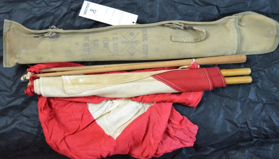 WWII US ARMY SIGNAL CORPS FLAG KIT