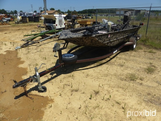 2002 Excel 1652 ''Big Dog'' Series Duck Boat, w/ 2004 40hp 2 cycle Nissan p