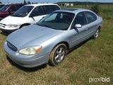 2002 Ford Taurus SES, leather interior, 3.0 ltr V6 engine, vin 1FAFP552X262