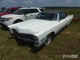 1969 Cadillac 2Door Convertible, auto tran, V8, white, 46462 miles showing,
