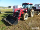 2015 Case JX1060C 4RM, MFWD Tractor, cab, a/c, 3 point, PTO, dual rear remo
