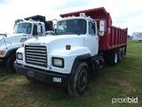 1999 Mack RD600GK Dump Truck, Mack E6, manual, used 18ft. Davis Bed, Dual W