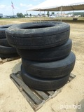Pallet of 11R 24.5 Tires, 10 Hole Bud Wheels
