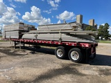 45 ft. Great Dane Flat Bed Trailer, Tandem Axle, Loaded with sheets of 1/4 interior wall  toun