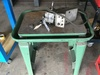 STEEL MOUNTING TABLE W/ BRIDGEPORT POWER FEED