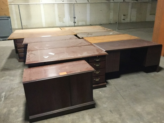 ASST OFFICE AND CONFERENCE TABLES AND CABINETS