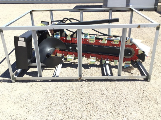 TRENCHER ATTACHMENT FOR SKID STEER