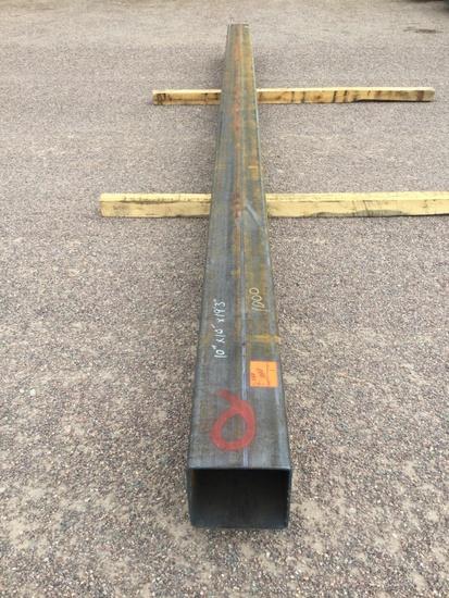 10IN x 19FT 3IN SQUARE TUBING