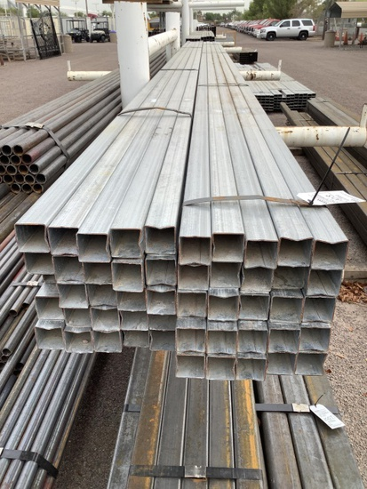 2 BUNDLES OF 2IN GALV SQUARE TUBING