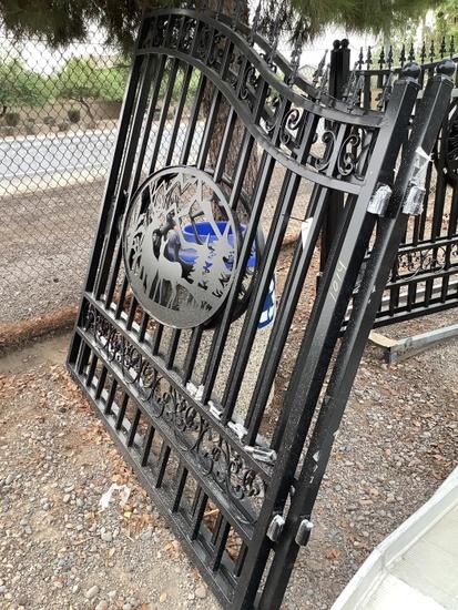 14FT WROUGHT IRON BI-PARTING GATE