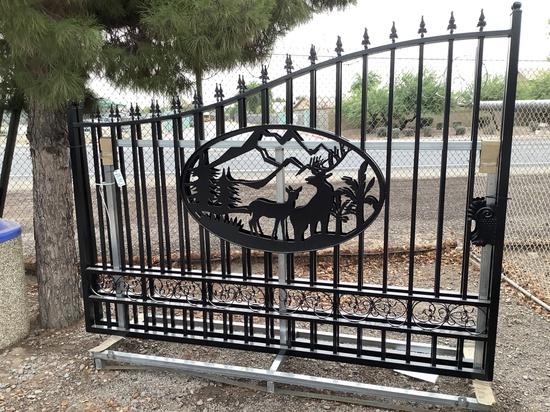 20FT WROUGHT IRON BI-PARTING GATE