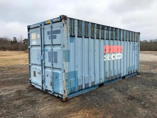 20FT SHIPPING CONTAINER (8FT HT, VENTED)