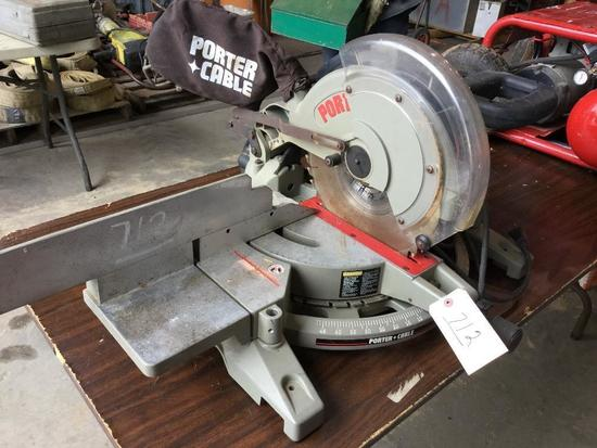 PORTER CABLE MODEL 3802 12 INCH COMPOUND MITER SAW (WORKING CONDITION)