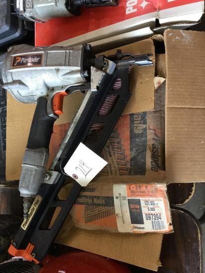 PASLODE NAIL GUN WITH NAILS