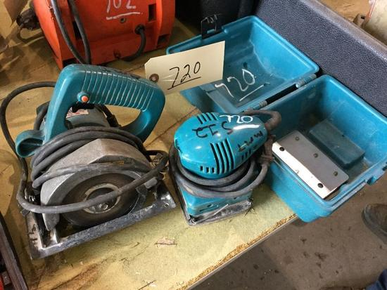 MAKITA 110 MM CIRCULAR SAW AND MAKITA PALM SANDER (WORKING CONDITION)