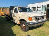 1988 FORD F-SUPER DUTY DUMP TRUCK (5spd TRANS, 7.3L DIESEL, 12FT DUMP BED W/REMOVABLE SIDES, PTO